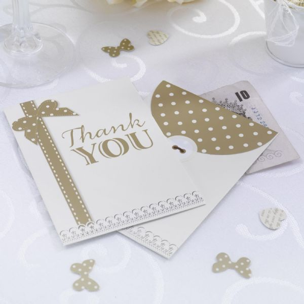 Chic Boutique Money Envelopes - Ivory & Gold (10)